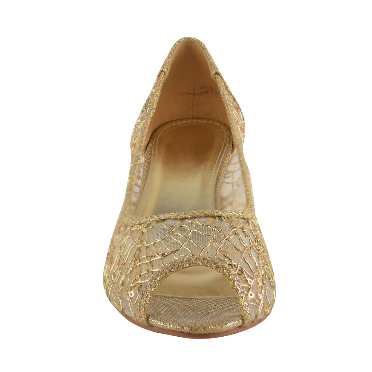 Wedge Heel Shoes For Wedding: LADIES WOMENS WEDGE HEEL LOW DIAMANTE WEDDING BRIDAL OPEN