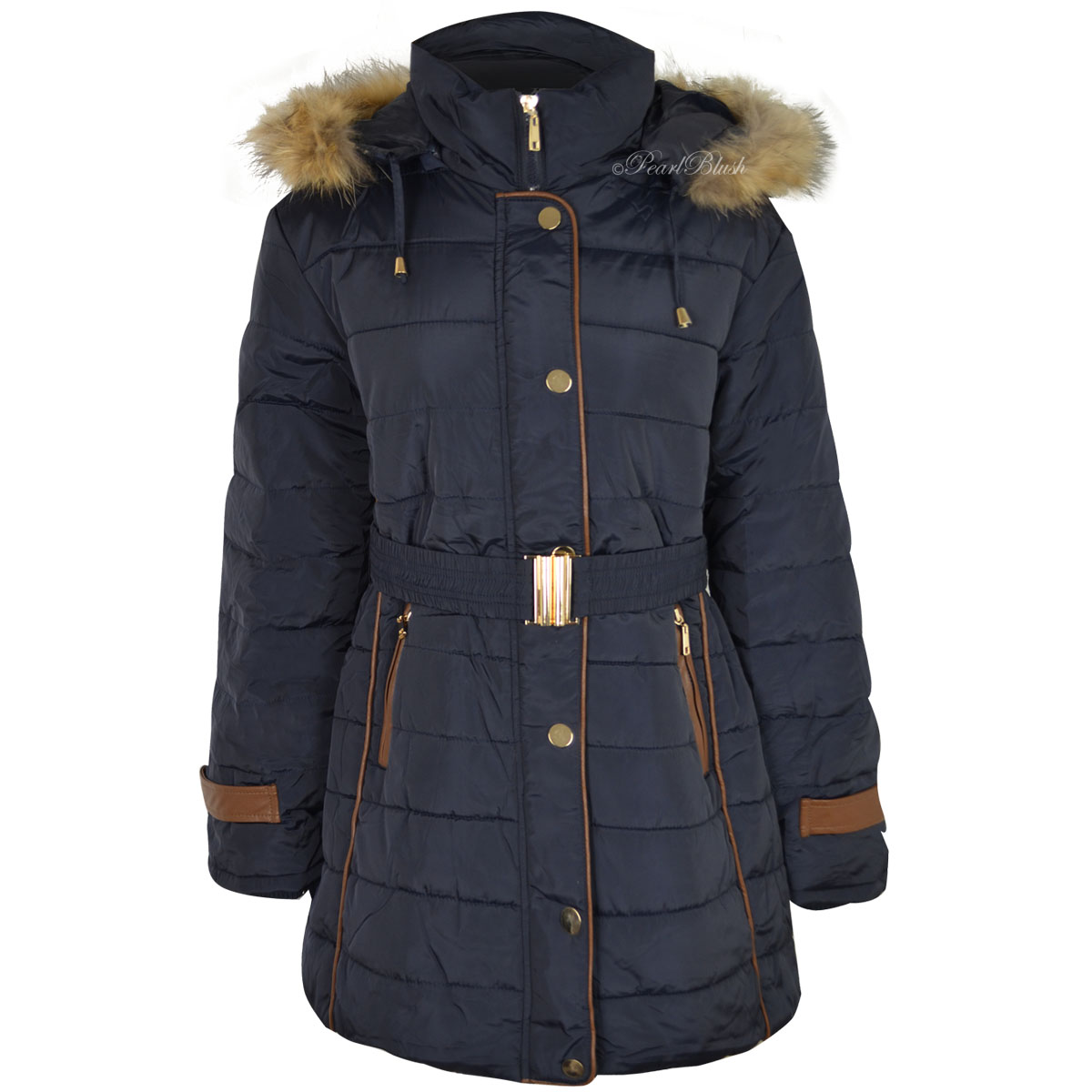 Buy Richie House Big Girls' Padded Winter Jacket with Belt and Faux Fur Hood RH and other Down & Down Alternative at 440v.cf Our wide selection is elegible for /5().