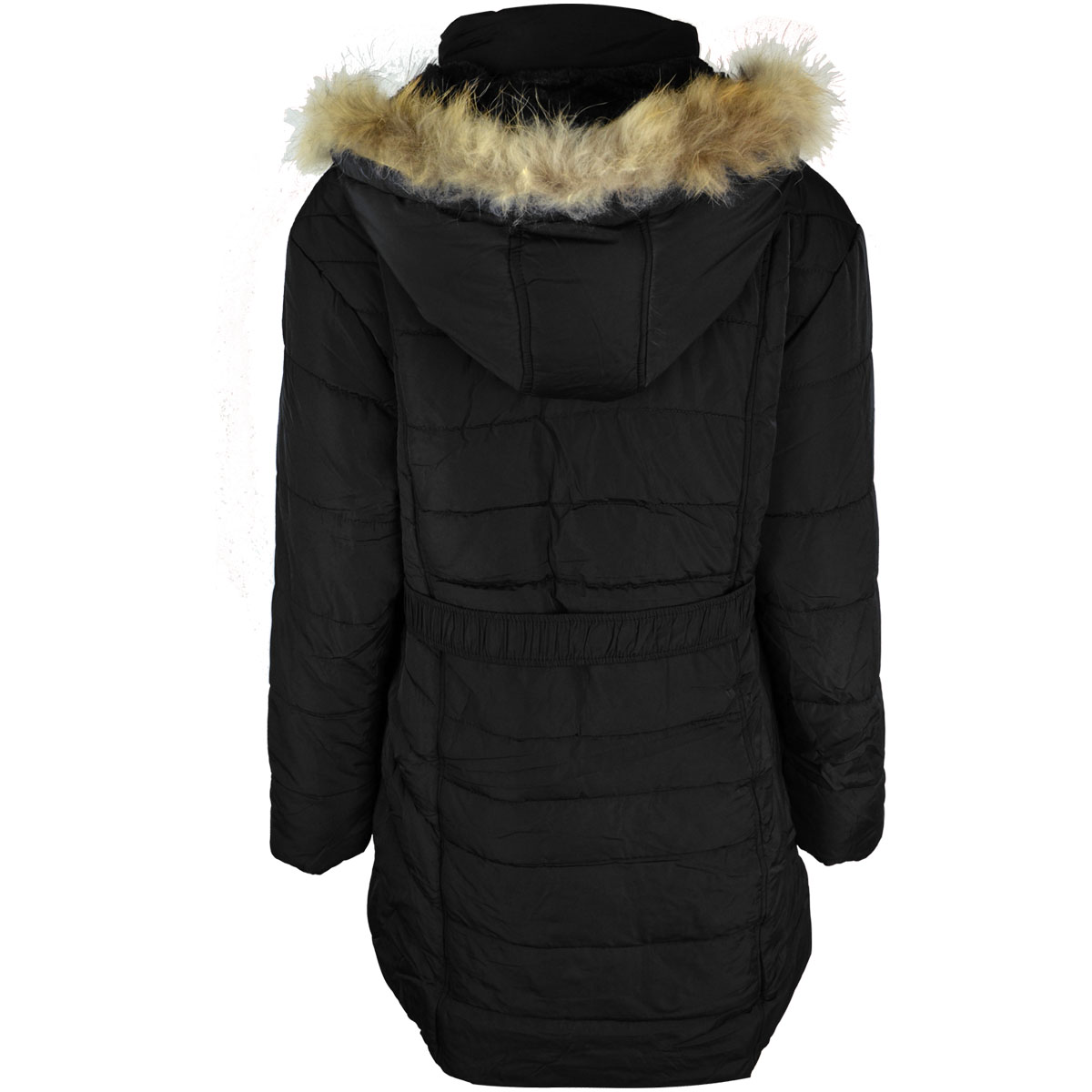 thumbnail 4 - Womens-Ladies-Plus-Over-Size-Winter-Long-Jacket-Puffer-Coat-Detachable-Hood