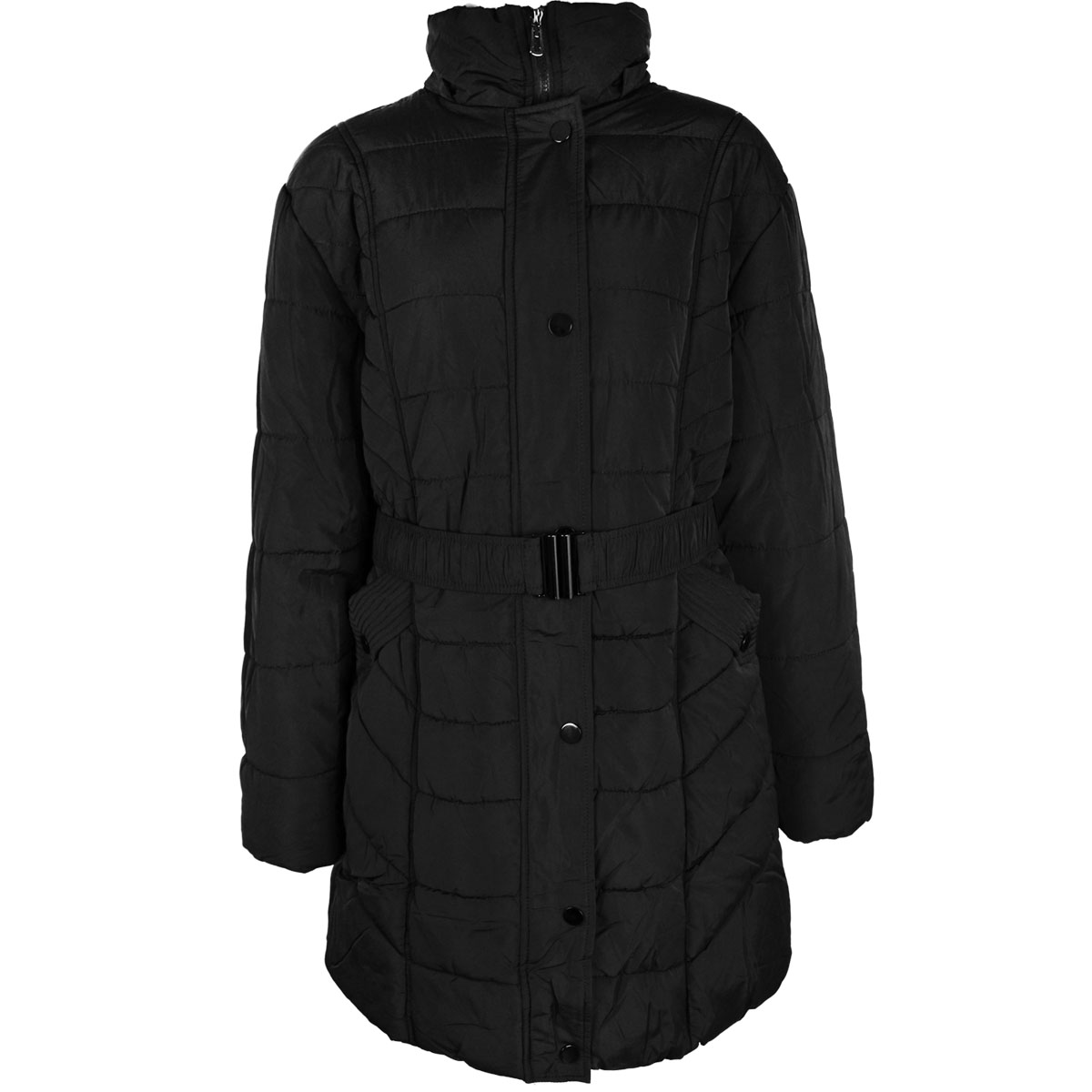thumbnail 5 - Womens-Ladies-Plus-Over-Size-Winter-Long-Jacket-Puffer-Coat-Detachable-Hood