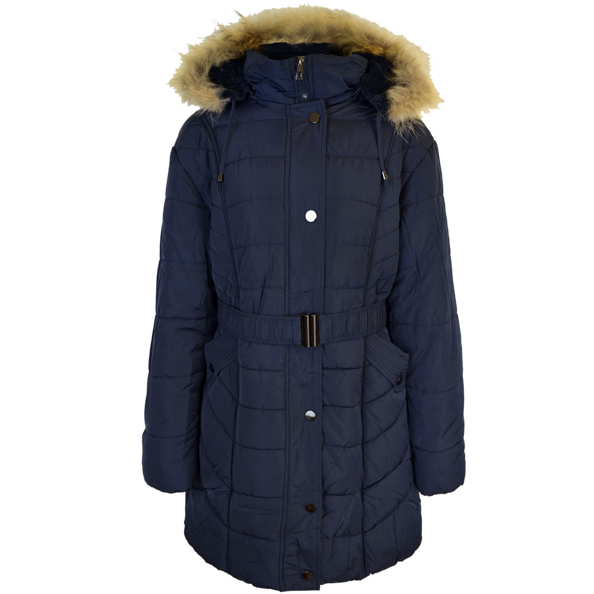thumbnail 7 - Womens-Ladies-Plus-Over-Size-Winter-Long-Jacket-Puffer-Coat-Detachable-Hood
