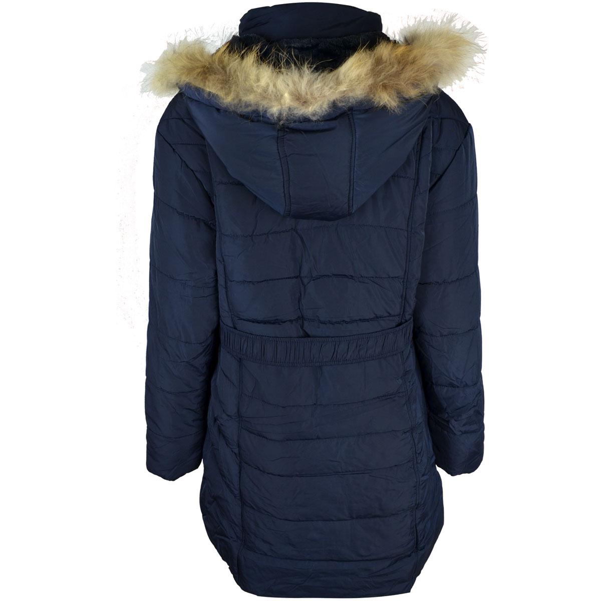 thumbnail 8 - Womens-Ladies-Plus-Over-Size-Winter-Long-Jacket-Puffer-Coat-Detachable-Hood
