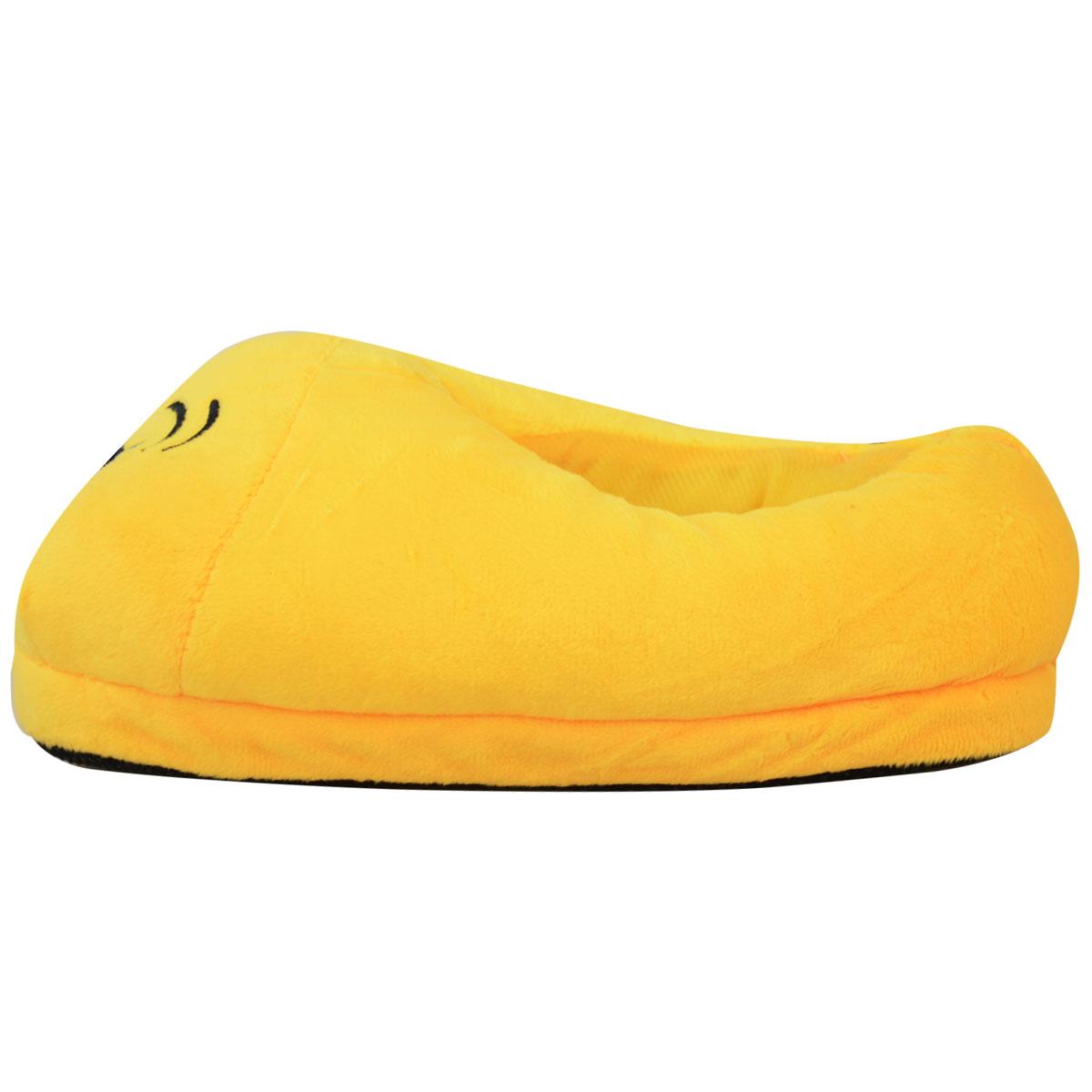 miniatura 10 - Uomini Donne Bambini Emoji Peluche imbottiti unisex Pantofola Inverno Casa Indoor Scarpe Taglia