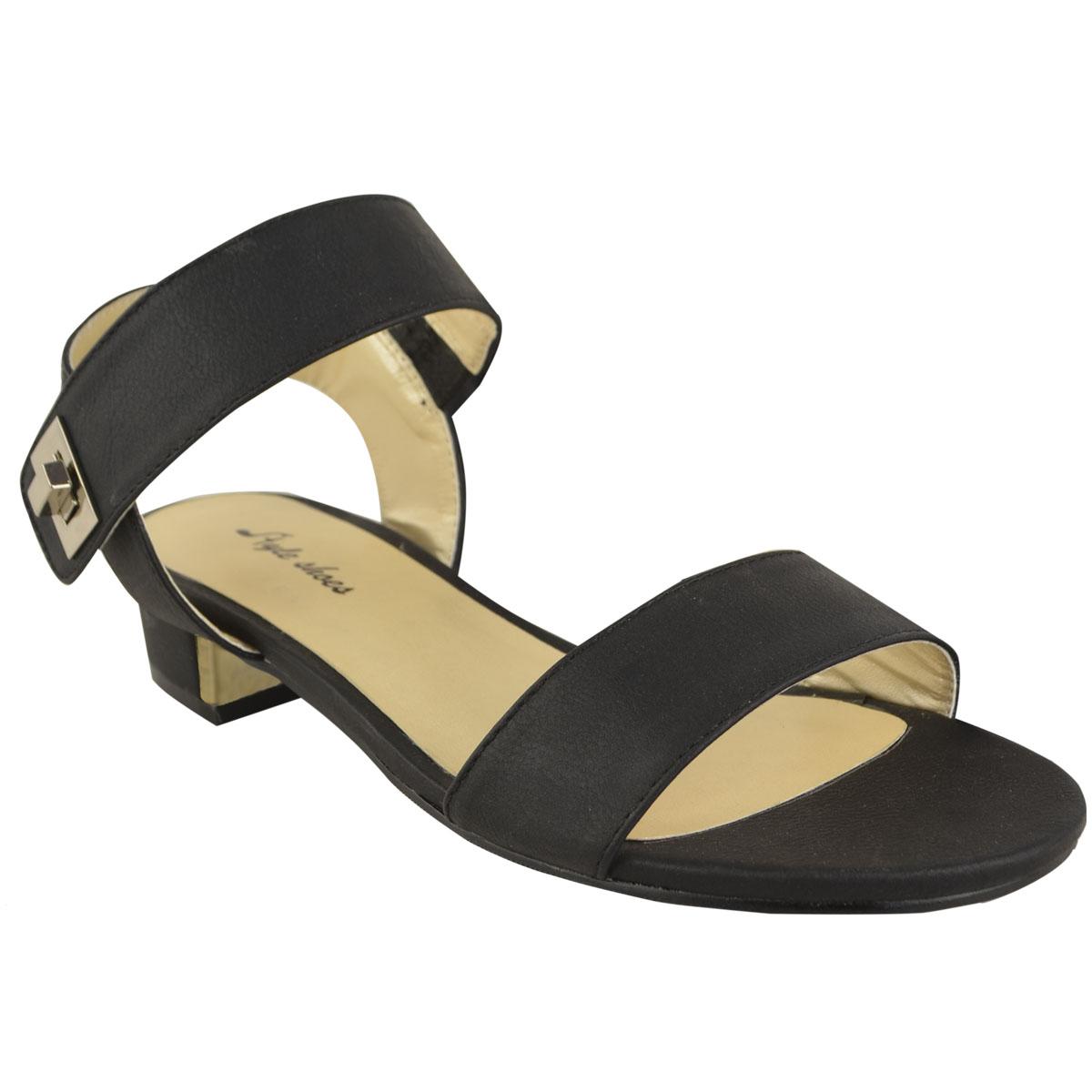 Flat heel sandals images - Womens Ladies Low Block Heel Sandals Summer Ankle