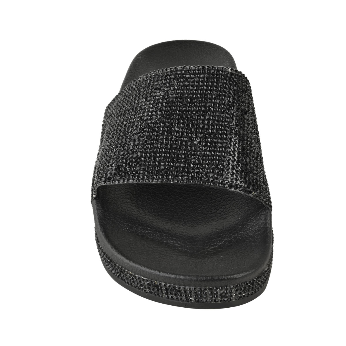 Womens-Ladies-Flat-Slides-Sandals-Diamante-Sparkly-Sliders-Slippers-Shoes-Size thumbnail 5