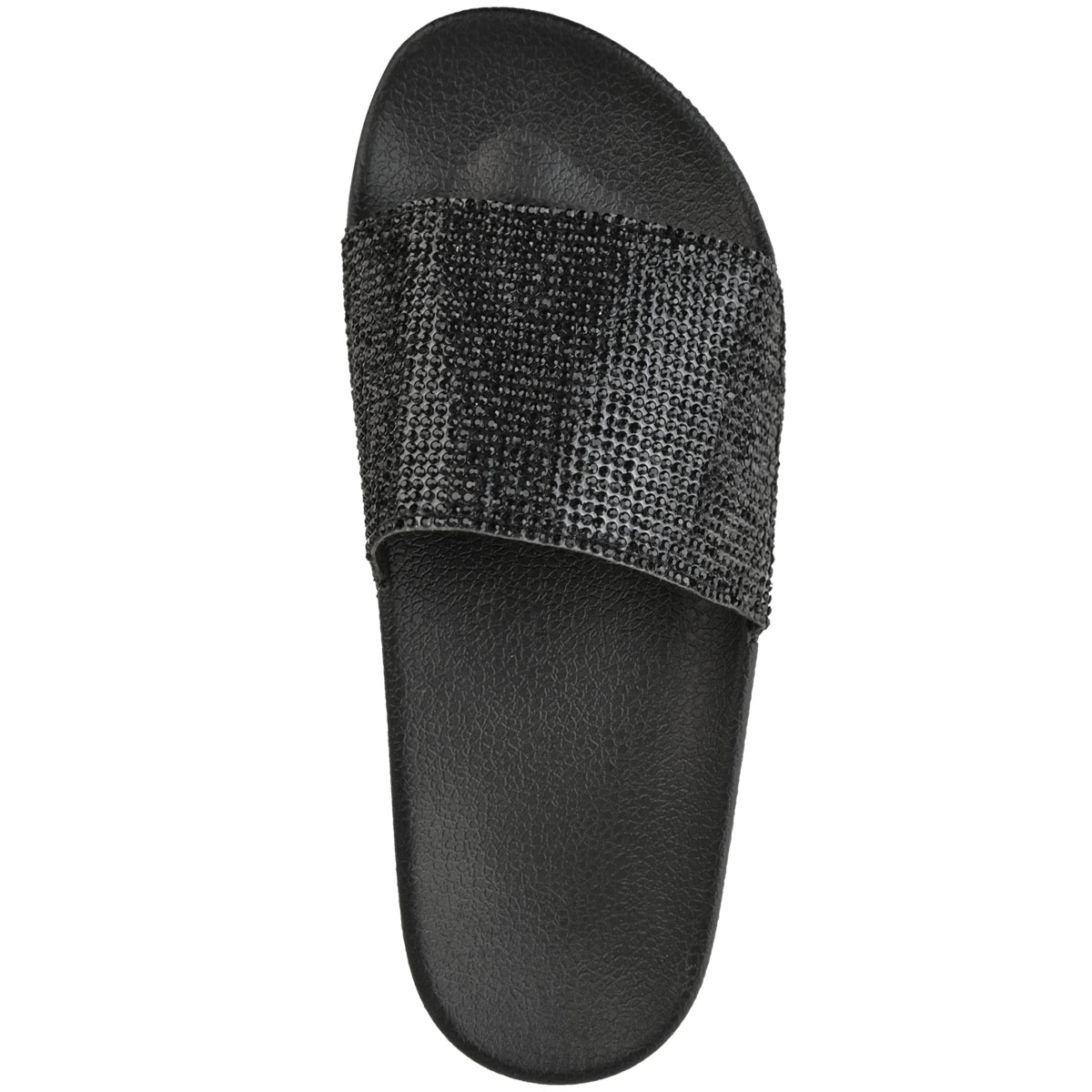 Womens-Ladies-Flat-Slides-Sandals-Diamante-Sparkly-Sliders-Slippers-Shoes-Size thumbnail 6