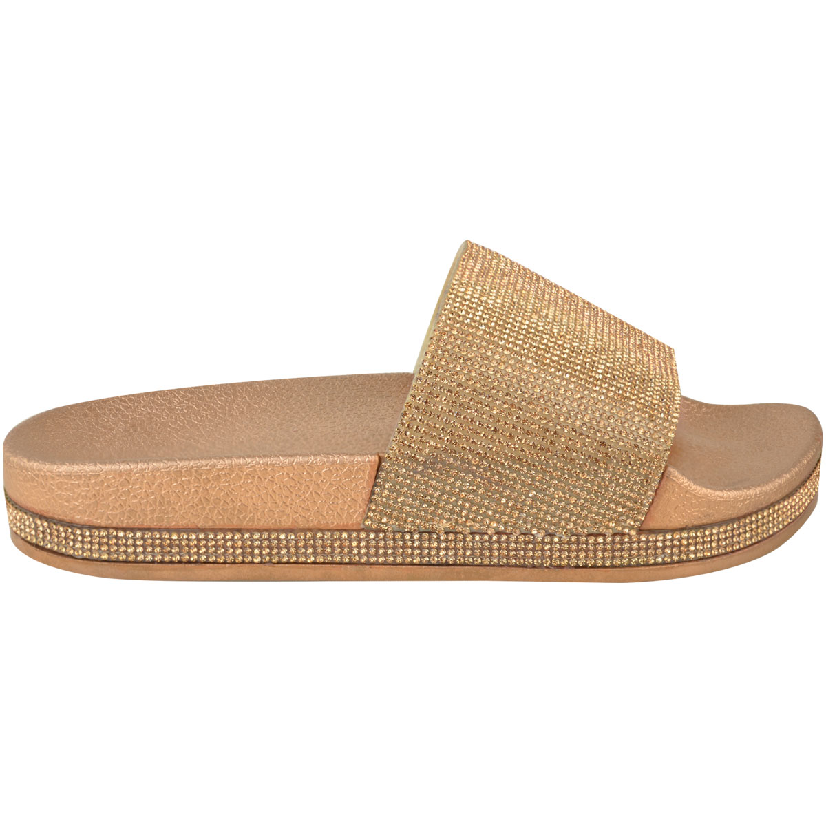 Womens-Ladies-Flat-Slides-Sandals-Diamante-Sparkly-Sliders-Slippers-Shoes-Size thumbnail 13