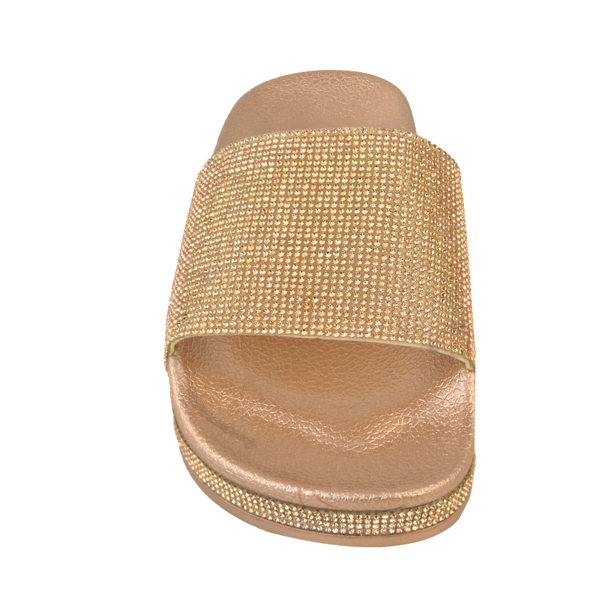 Womens-Ladies-Flat-Slides-Sandals-Diamante-Sparkly-Sliders-Slippers-Shoes-Size thumbnail 15