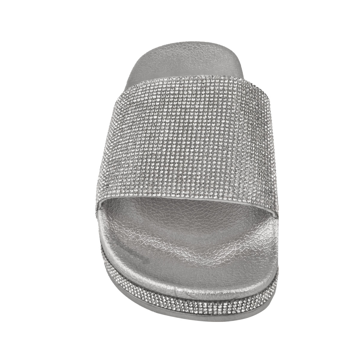 Womens-Ladies-Flat-Slides-Sandals-Diamante-Sparkly-Sliders-Slippers-Shoes-Size thumbnail 10