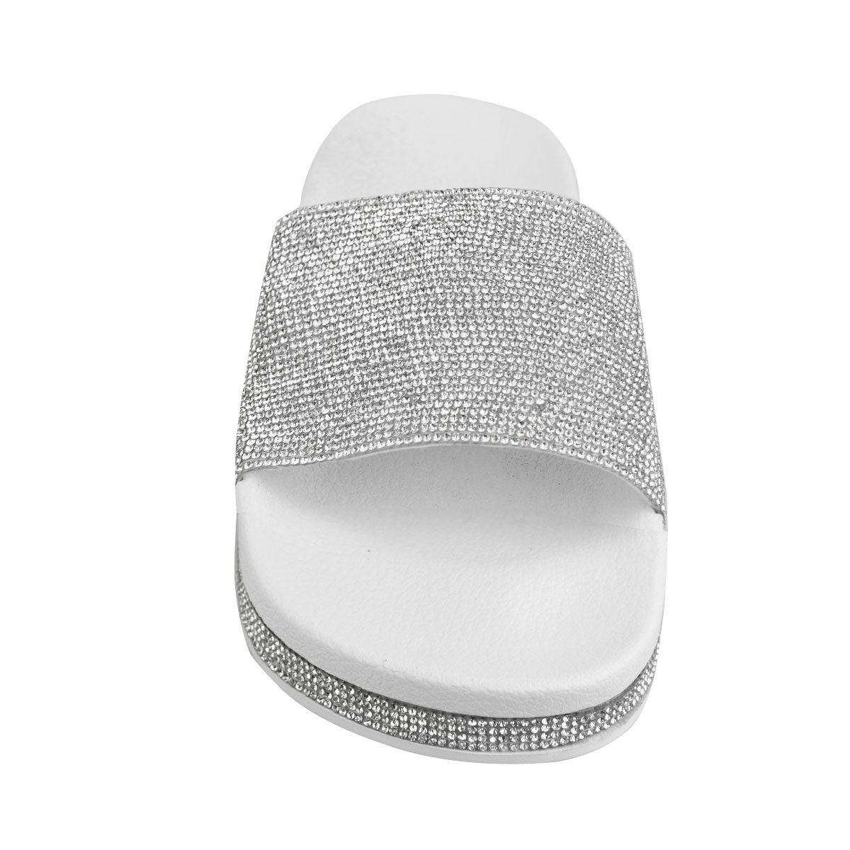 Womens-Ladies-Flat-Slides-Sandals-Diamante-Sparkly-Sliders-Slippers-Shoes-Size thumbnail 20