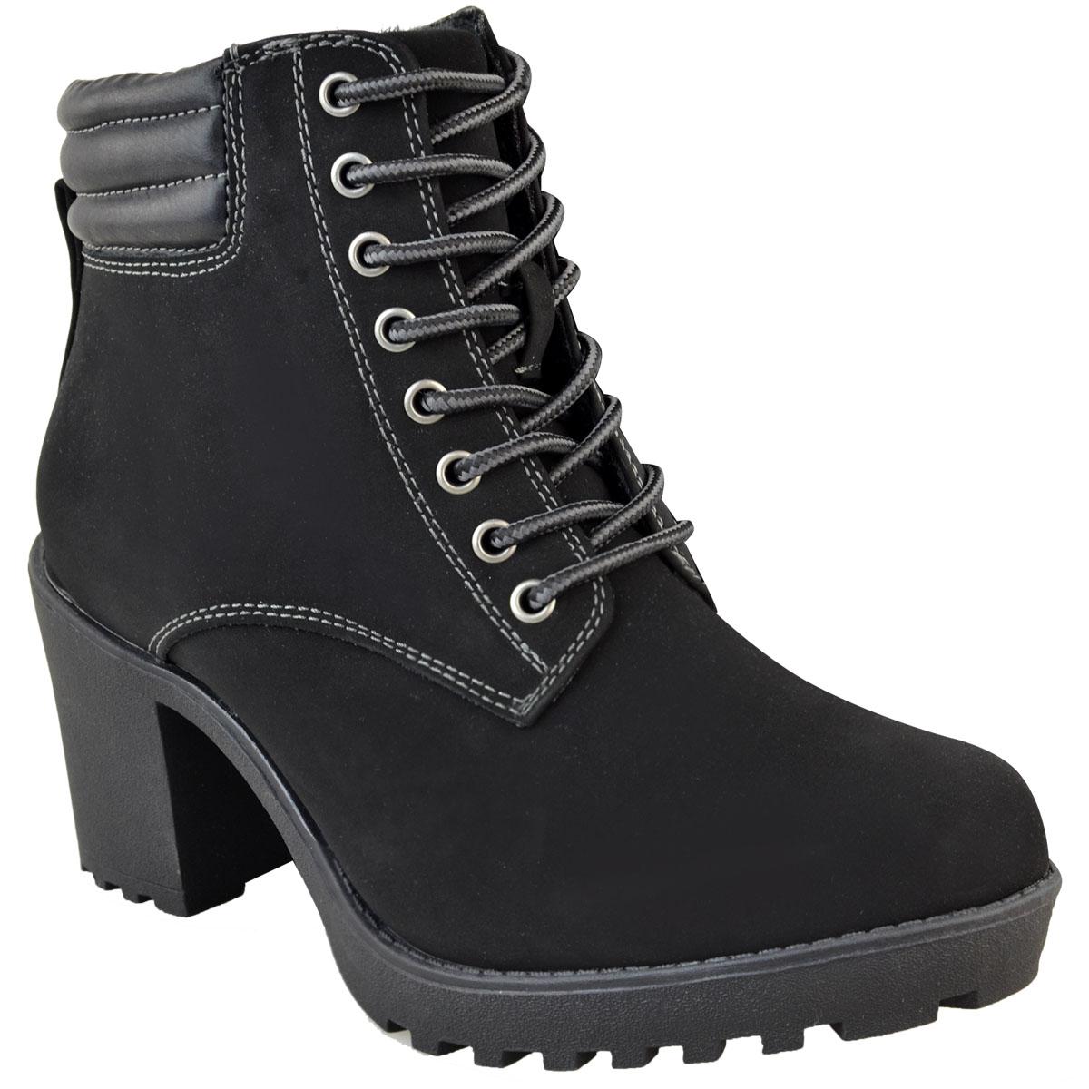 Womens-Ladies-Winter-Walking-Boots-Fleece-Warm-Lining-Cosy-Low-Block-Heel-Size Indexbild 13