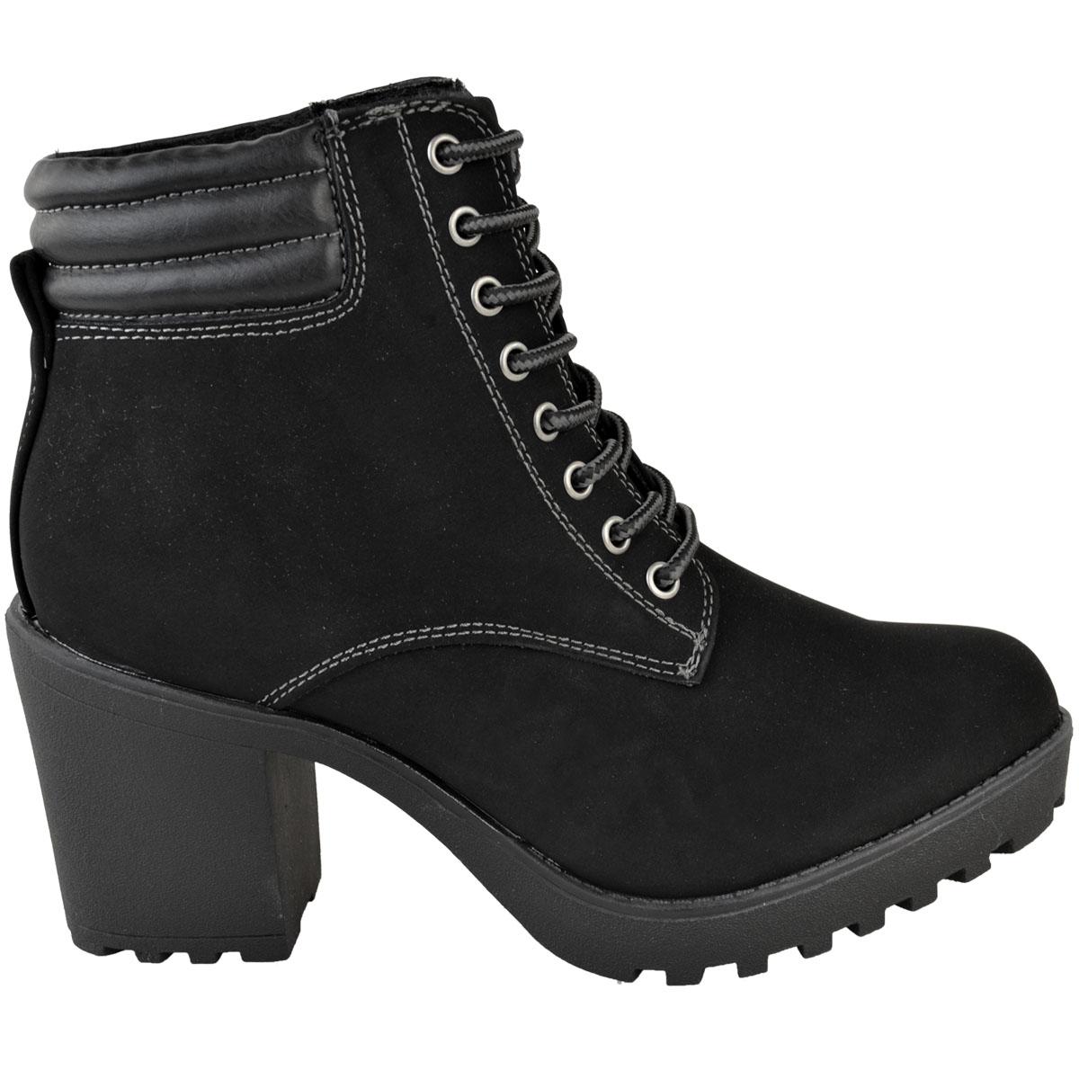 Womens-Ladies-Winter-Walking-Boots-Fleece-Warm-Lining-Cosy-Low-Block-Heel-Size Indexbild 14
