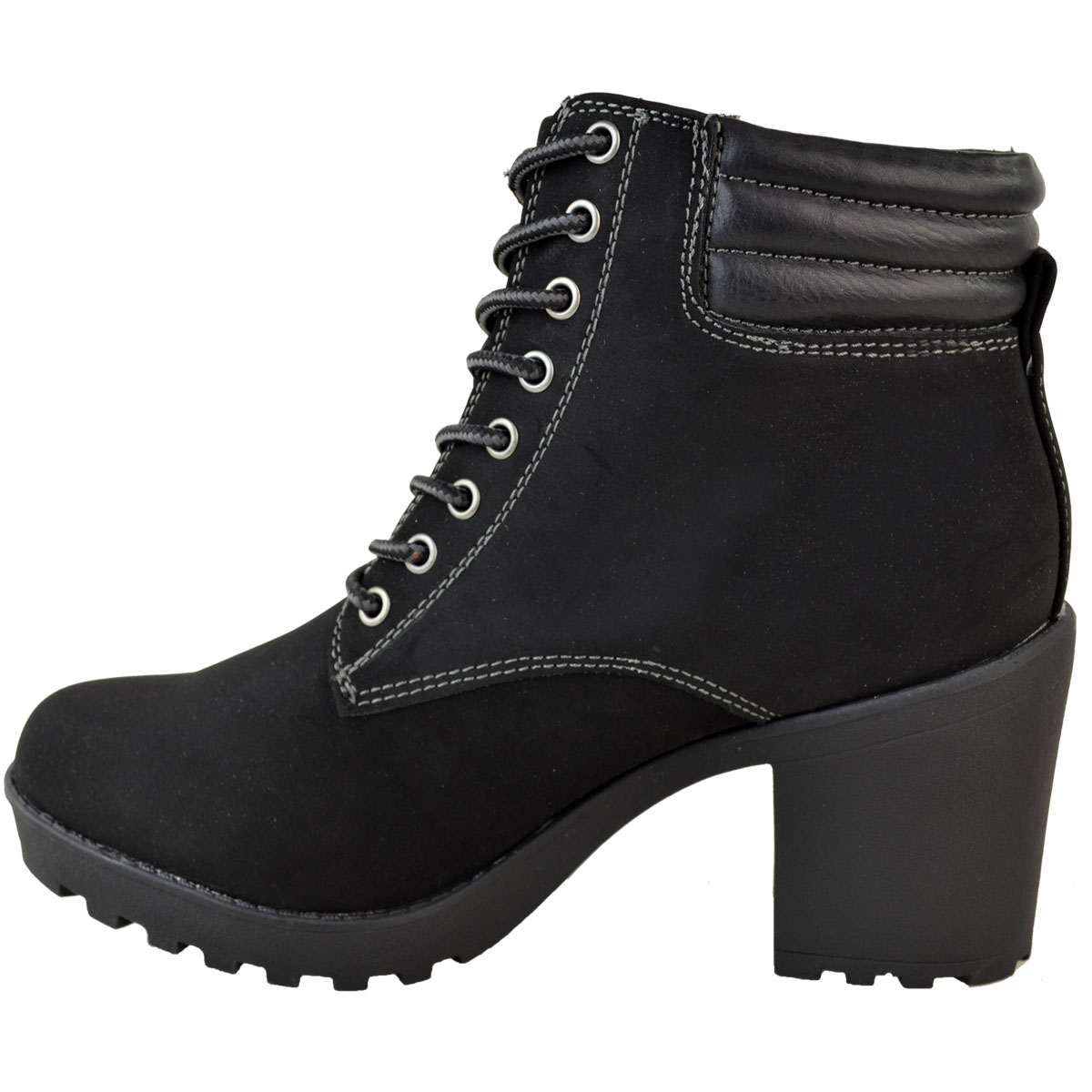 Womens-Ladies-Winter-Walking-Boots-Fleece-Warm-Lining-Cosy-Low-Block-Heel-Size Indexbild 15