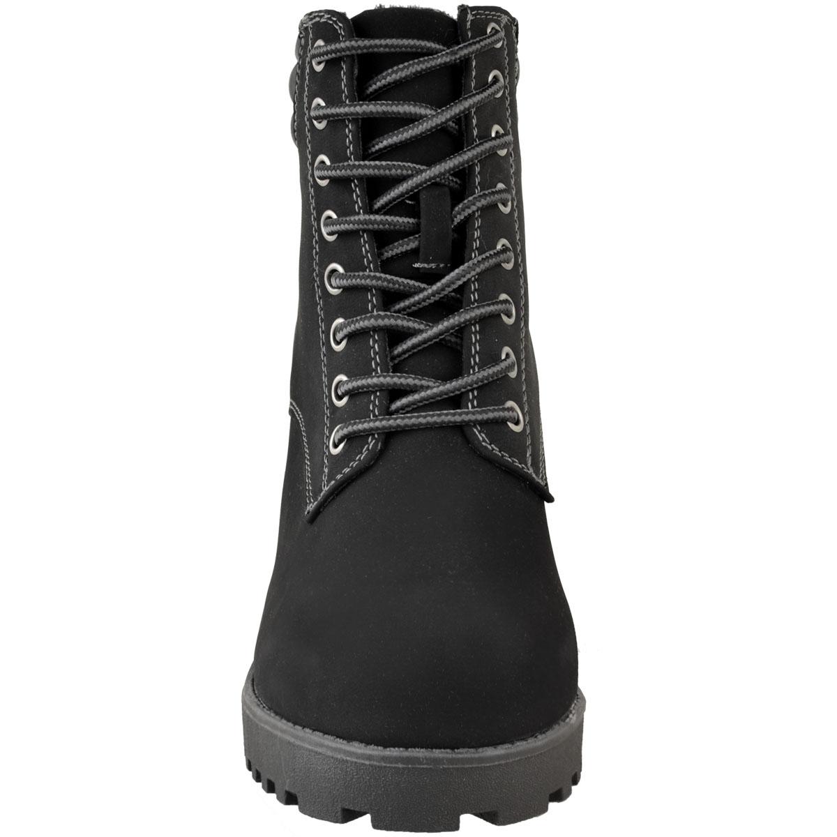Womens-Ladies-Winter-Walking-Boots-Fleece-Warm-Lining-Cosy-Low-Block-Heel-Size Indexbild 16