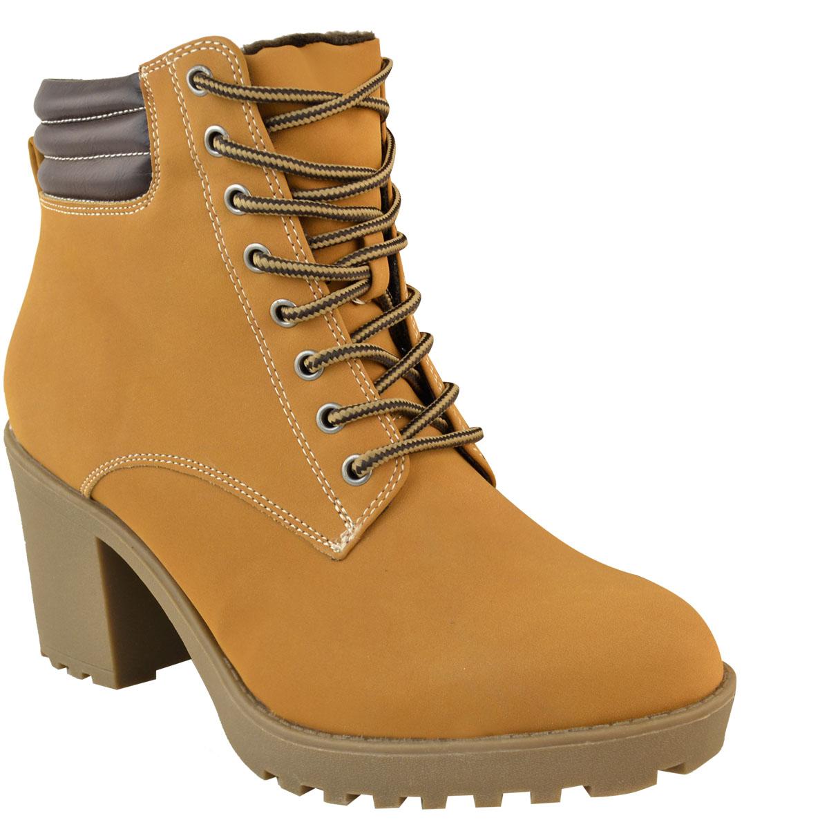 Womens-Ladies-Winter-Walking-Boots-Fleece-Warm-Lining-Cosy-Low-Block-Heel-Size Indexbild 18