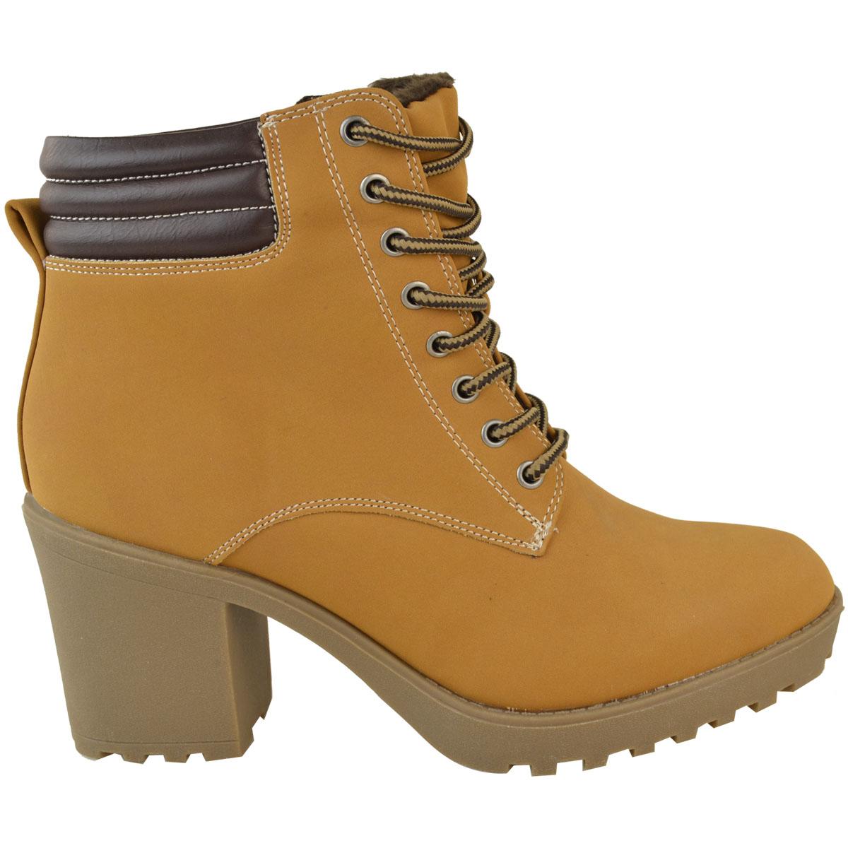 Womens-Ladies-Winter-Walking-Boots-Fleece-Warm-Lining-Cosy-Low-Block-Heel-Size Indexbild 19