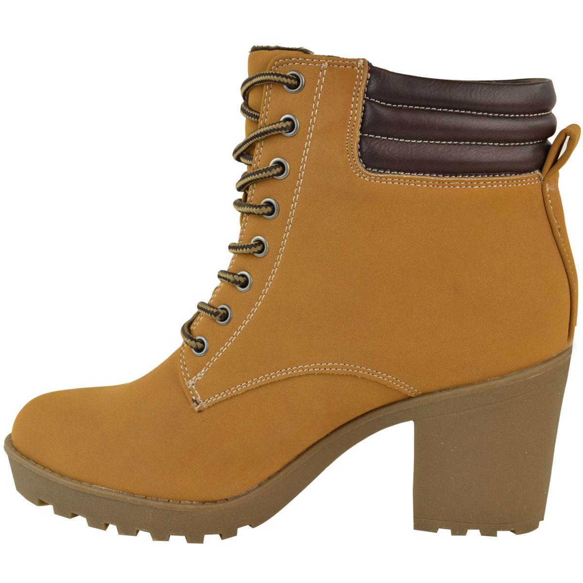 Womens-Ladies-Winter-Walking-Boots-Fleece-Warm-Lining-Cosy-Low-Block-Heel-Size Indexbild 20