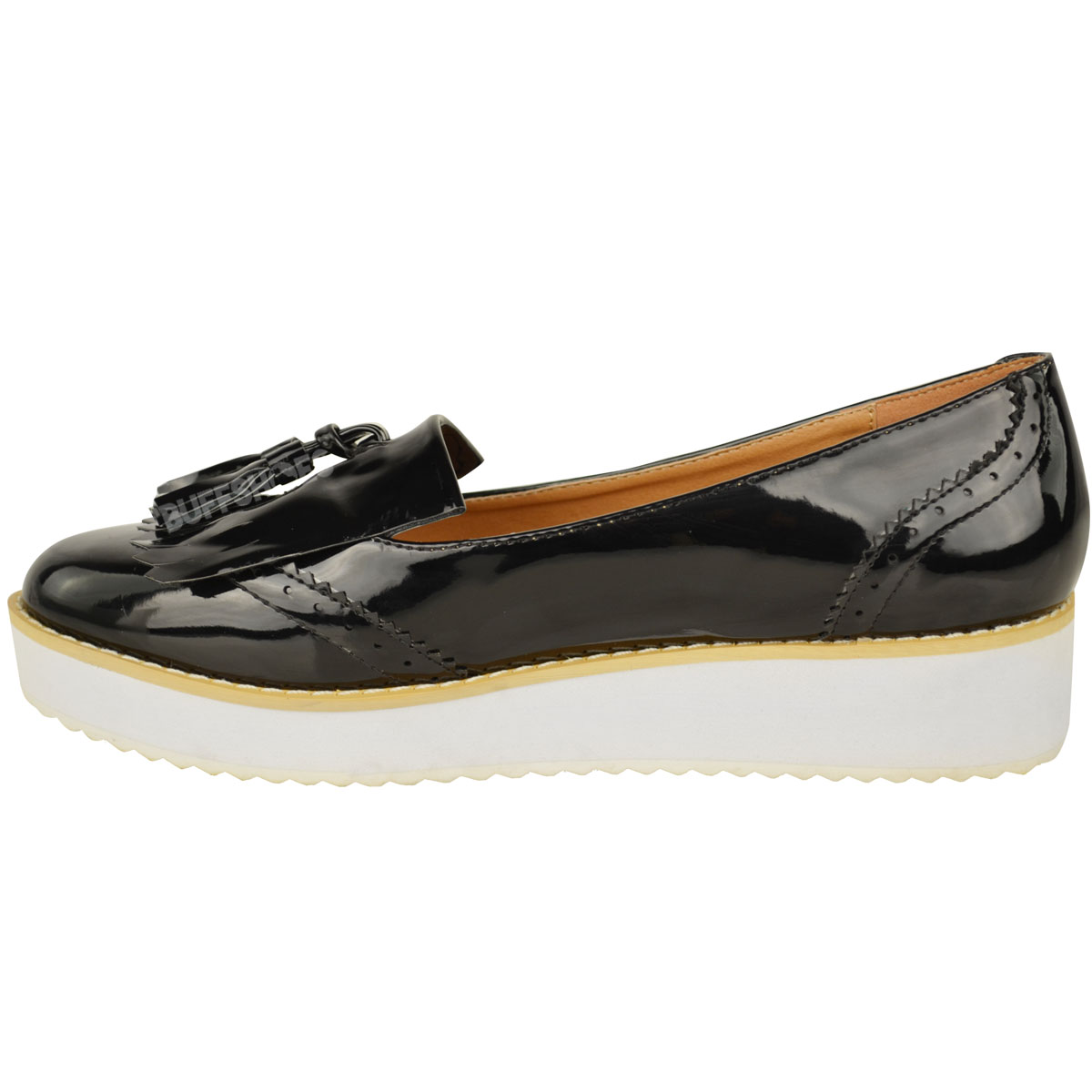 Chunky Black Flat Shoes