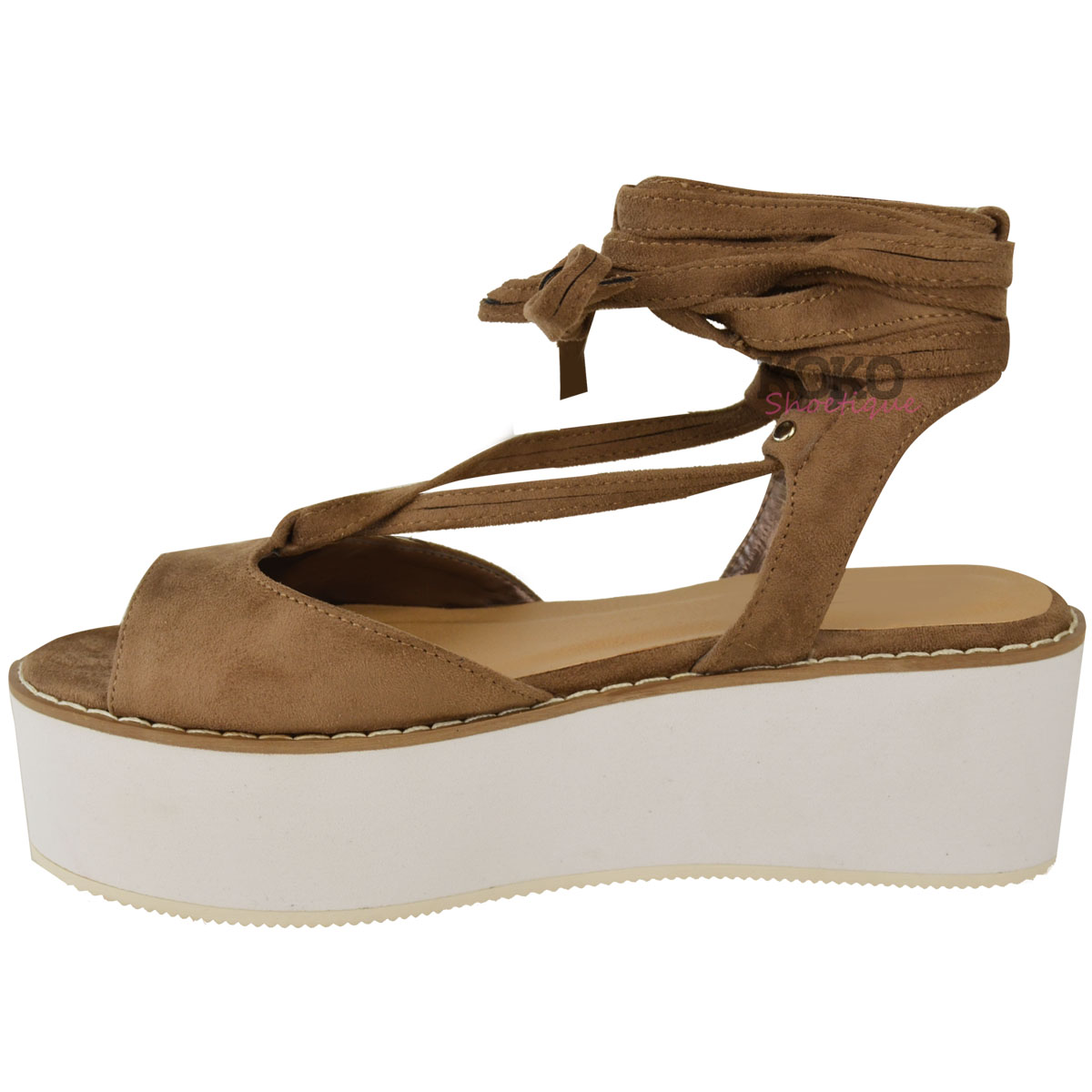 8332aff73a48 Luxury Womens Strappy Platform Wedge Sandals Summer Wedges Shoes Ladies  Girls Size 3-8