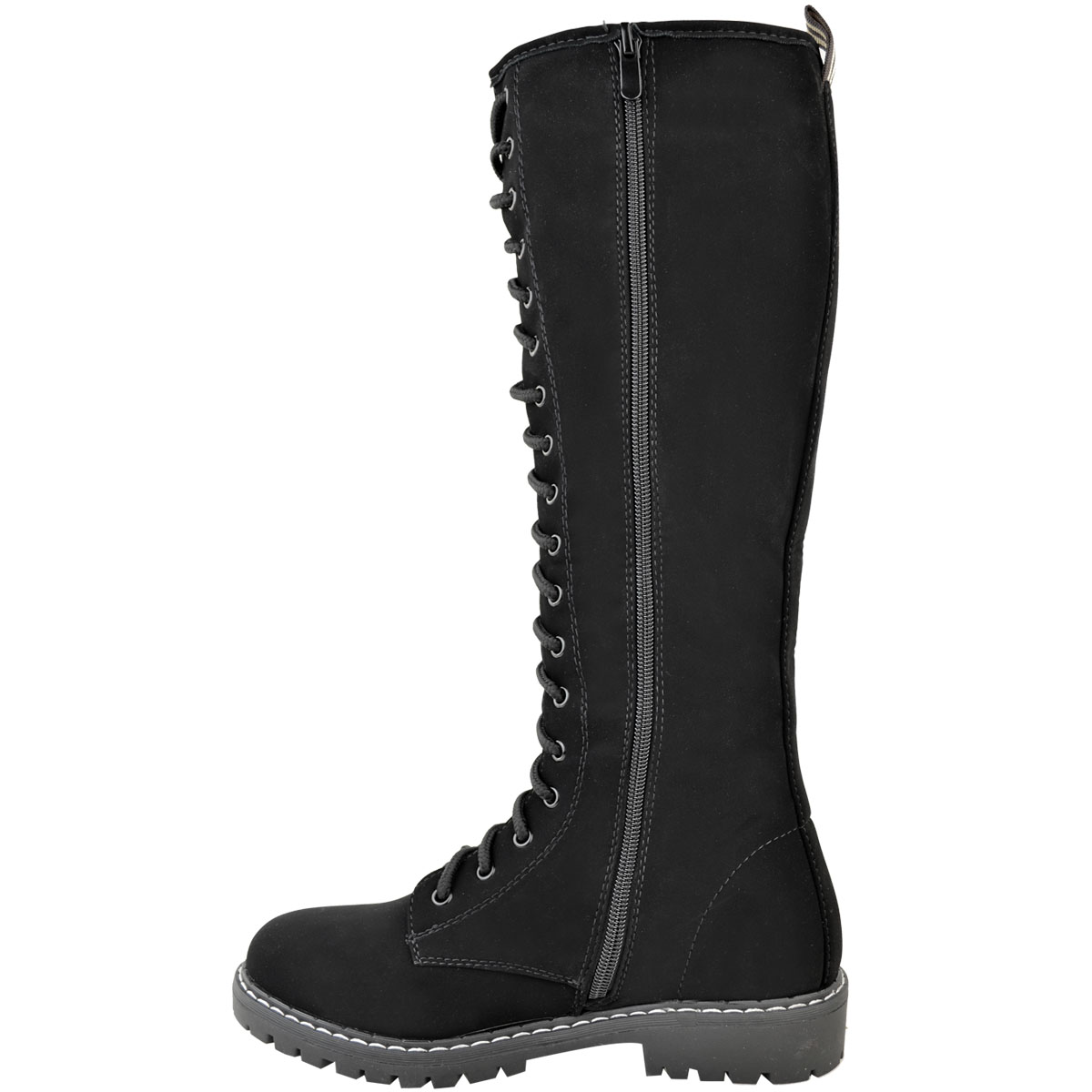 3781877274c Womens Ladies Knee High Army Combat Winter Boots Timbs Lace Up ...