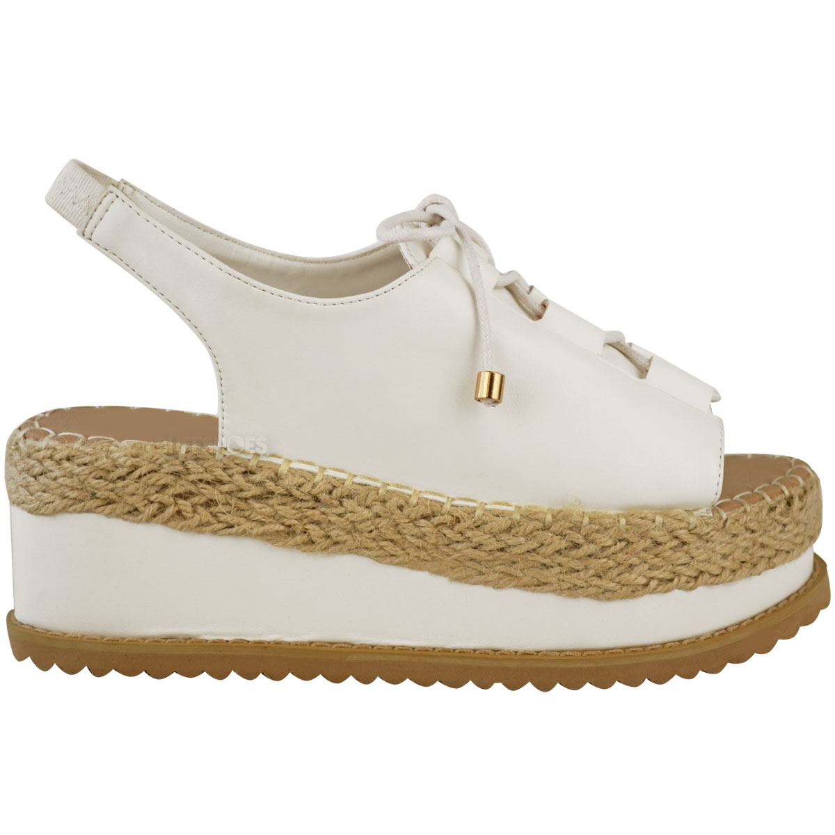 womens espadrille flatforms wedge sandals lace up