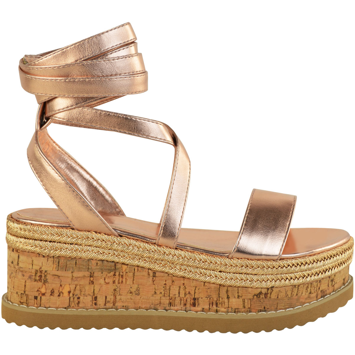 Womens-Ladies-Flat-Wedge-Espadrille-Lace-Tie-up-Sandals-Platform-Summer-Shoes