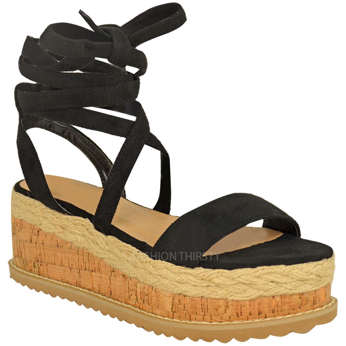 Flatform Ladies Espadrilles Shoes