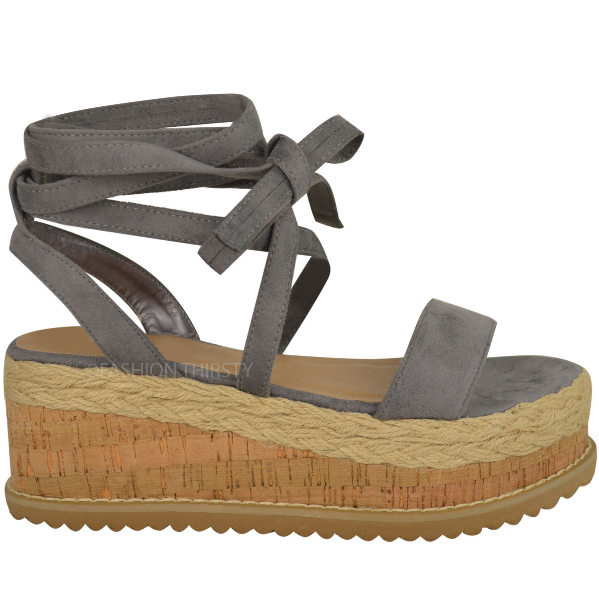 Popular Women39s 39Jude139 Ankle Strap Espadrille Wedge Sandals  Free Ship