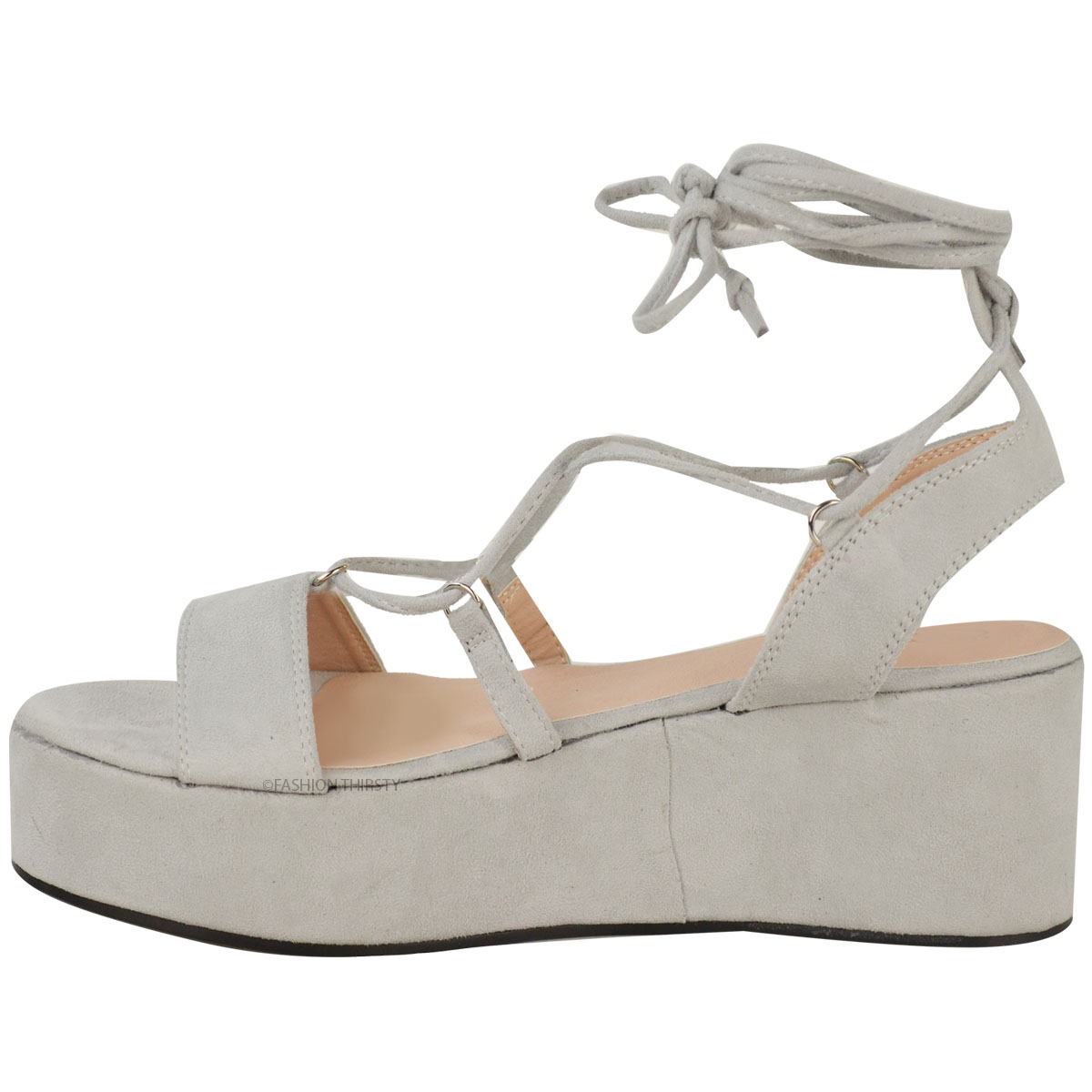 new womens low wedge platform sandals strappy
