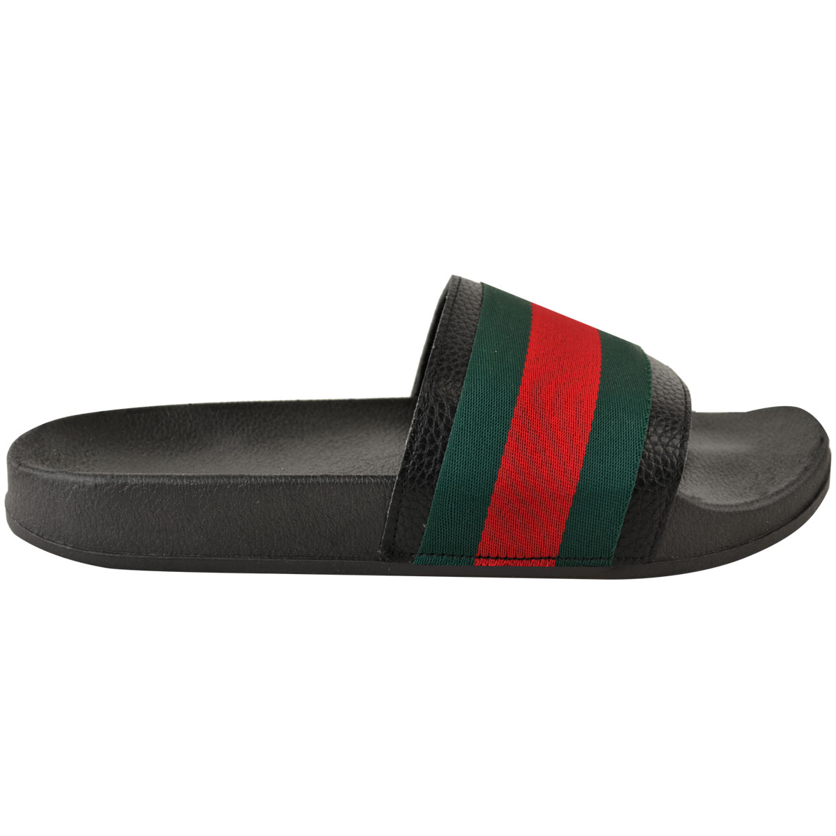 Womens-Ladies-Flat-Striped-Sliders-Summer-Sandals-Slides-Mules-Slippers-Size thumbnail 4