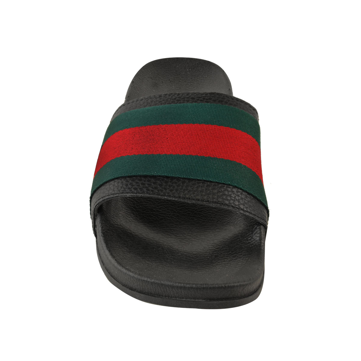 Womens-Ladies-Flat-Striped-Sliders-Summer-Sandals-Slides-Mules-Slippers-Size thumbnail 6