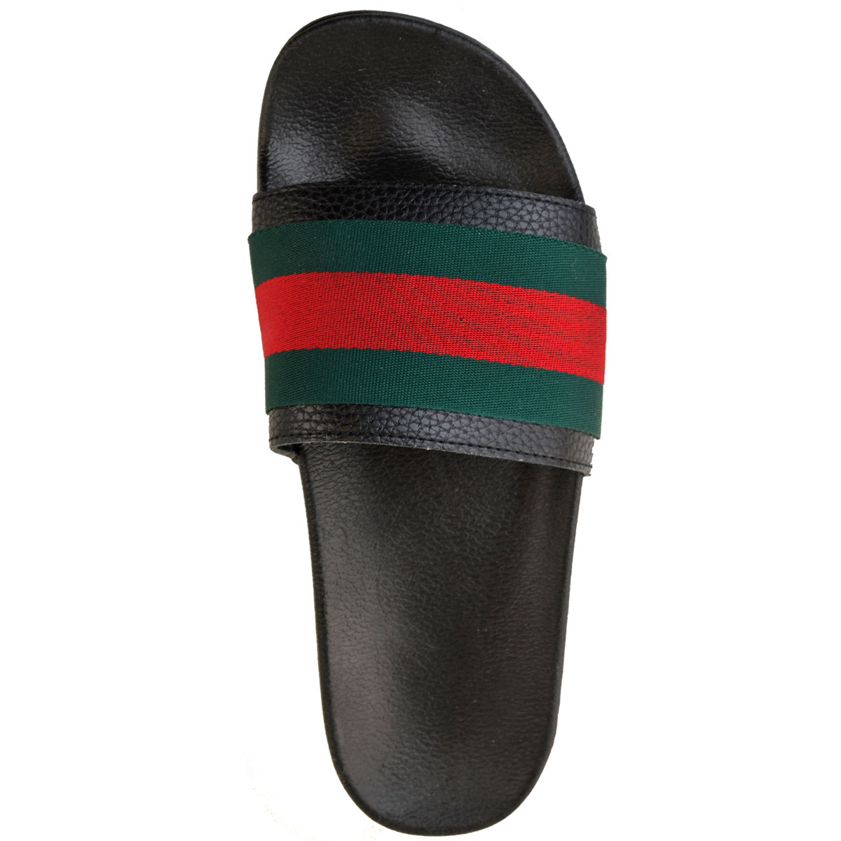 Womens-Ladies-Flat-Striped-Sliders-Summer-Sandals-Slides-Mules-Slippers-Size thumbnail 7