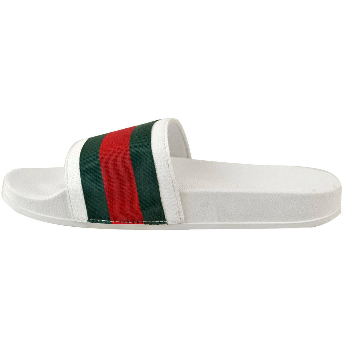 Womens-Ladies-Flat-Striped-Sliders-Summer-Sandals-Slides-Mules-Slippers-Size thumbnail 11
