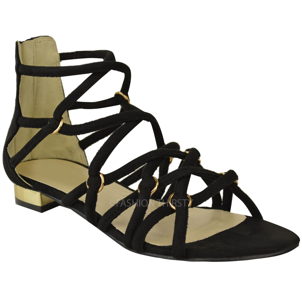 Popular WOMENS FLAT GEM T BAR STRAPPY LADIES FASHION SANDALS SHOES SIZE 38