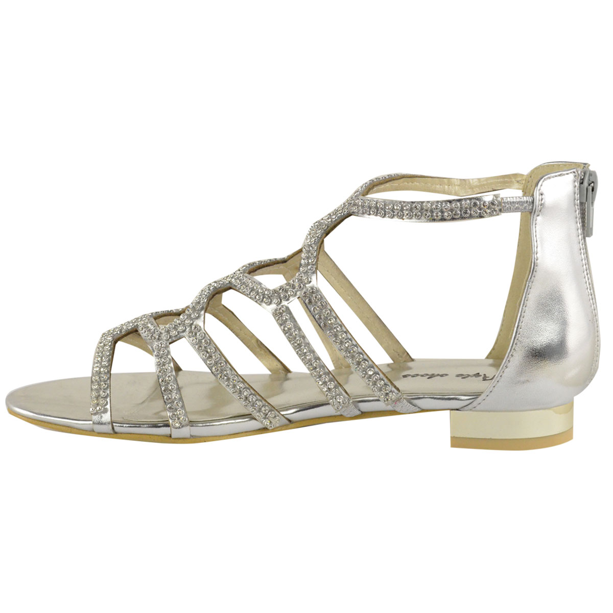 Brilliant  About Women39s Gladiator Criss Cross Buckle Strap Flat Ankle Sandals