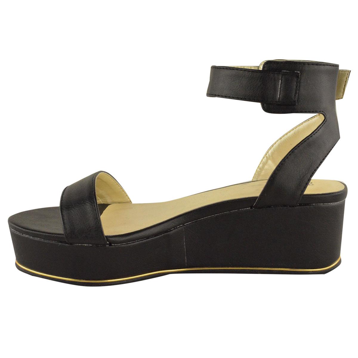 womens low wedge heel ankle summer sandals