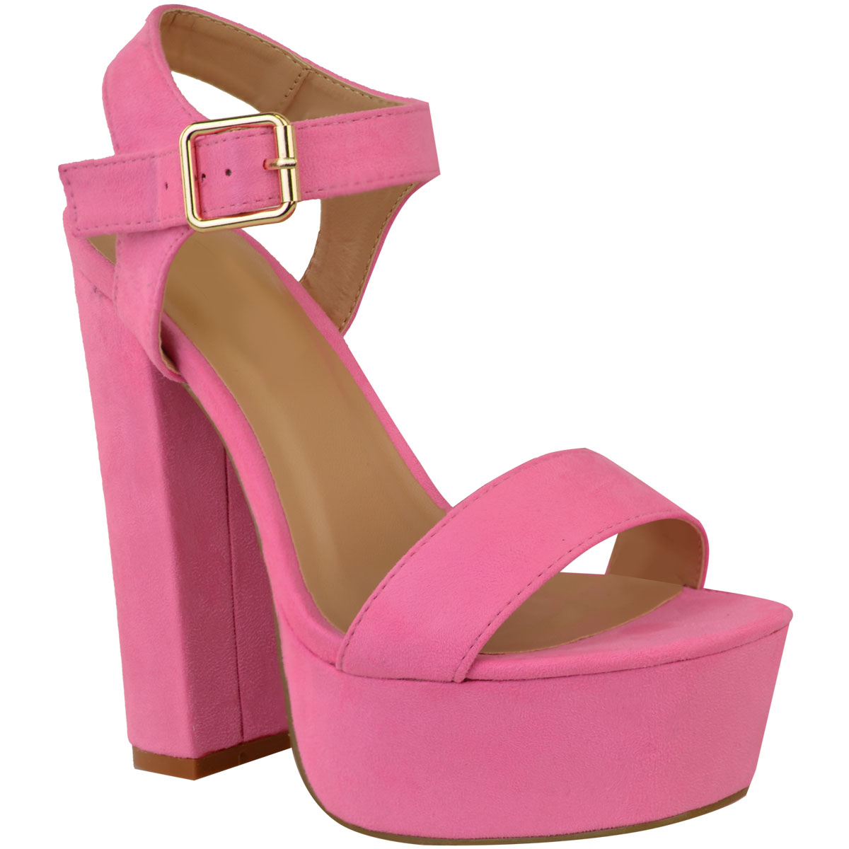 NUOVA linea donna estivi plateau tacco alto sandali DONNA LIBERA PUNTA Con Cinturini Scarpe Da Sera