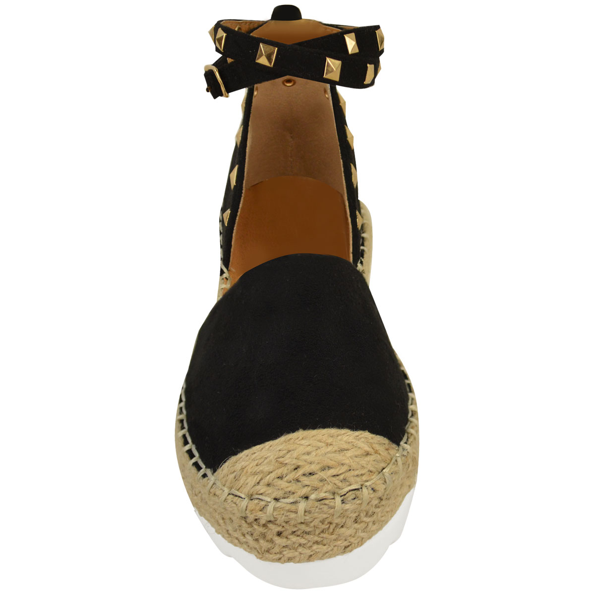 Womens-Ladies-Espadrilles-Flat-Pom-Pom-Sandals-Slip-On-Strappy-Comfy-Size-Shoes thumbnail 9