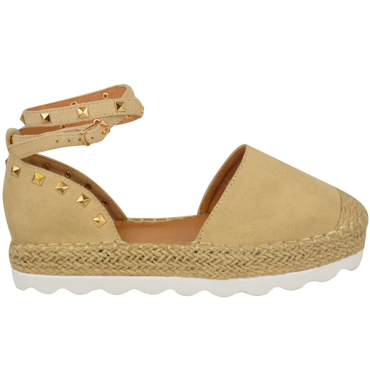 Womens-Ladies-Espadrilles-Flat-Pom-Pom-Sandals-Slip-On-Strappy-Comfy-Size-Shoes thumbnail 11