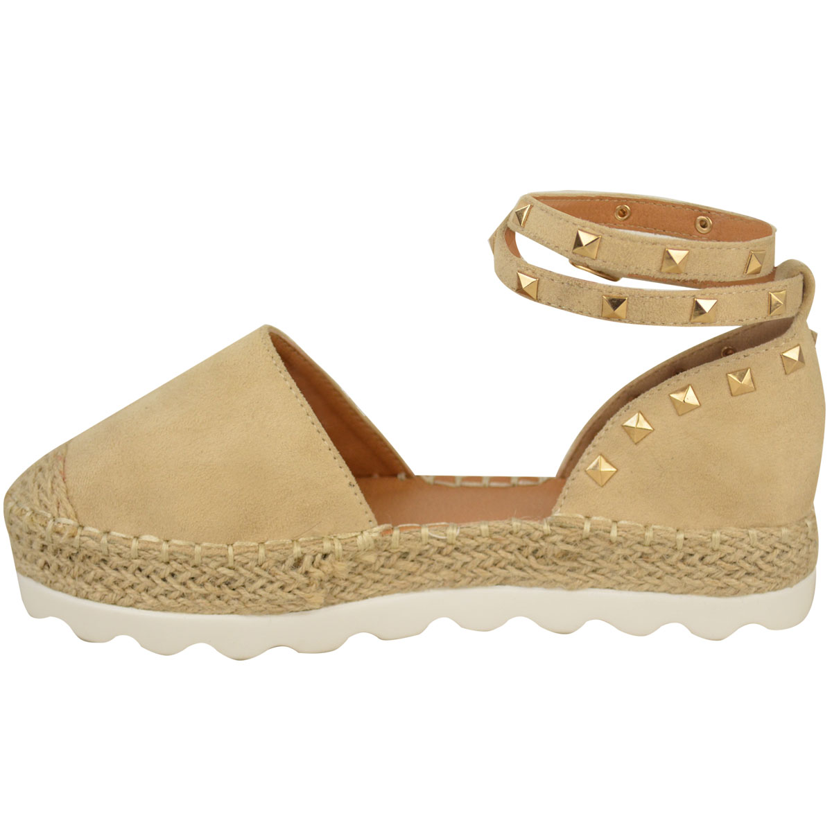Womens-Ladies-Espadrilles-Flat-Pom-Pom-Sandals-Slip-On-Strappy-Comfy-Size-Shoes thumbnail 12