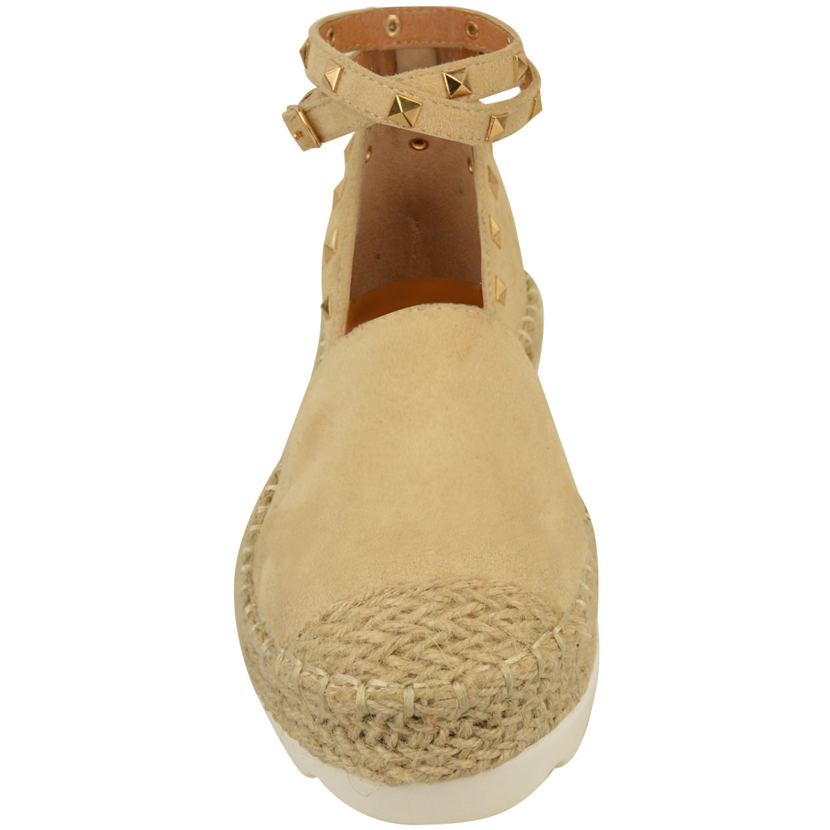 Womens-Ladies-Espadrilles-Flat-Pom-Pom-Sandals-Slip-On-Strappy-Comfy-Size-Shoes thumbnail 13