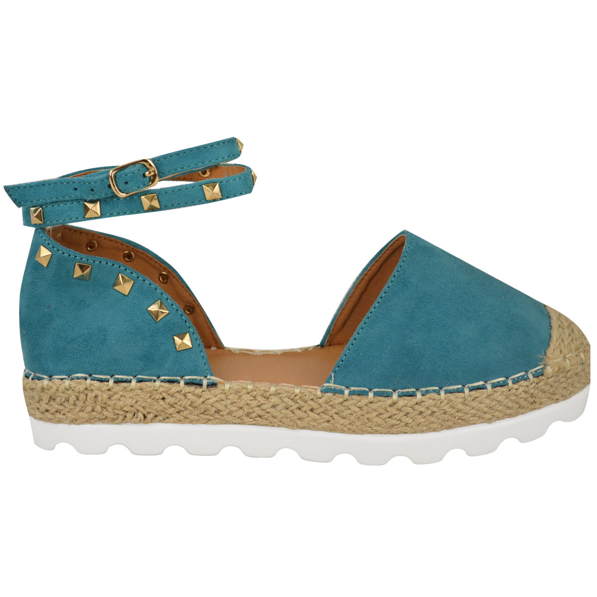Womens-Ladies-Espadrilles-Flat-Pom-Pom-Sandals-Slip-On-Strappy-Comfy-Size-Shoes thumbnail 15