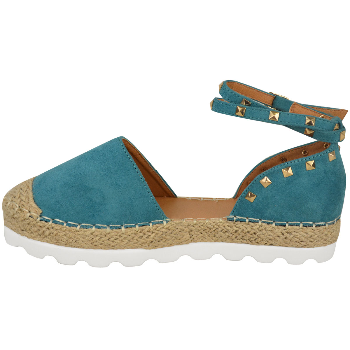 Womens-Ladies-Espadrilles-Flat-Pom-Pom-Sandals-Slip-On-Strappy-Comfy-Size-Shoes thumbnail 16