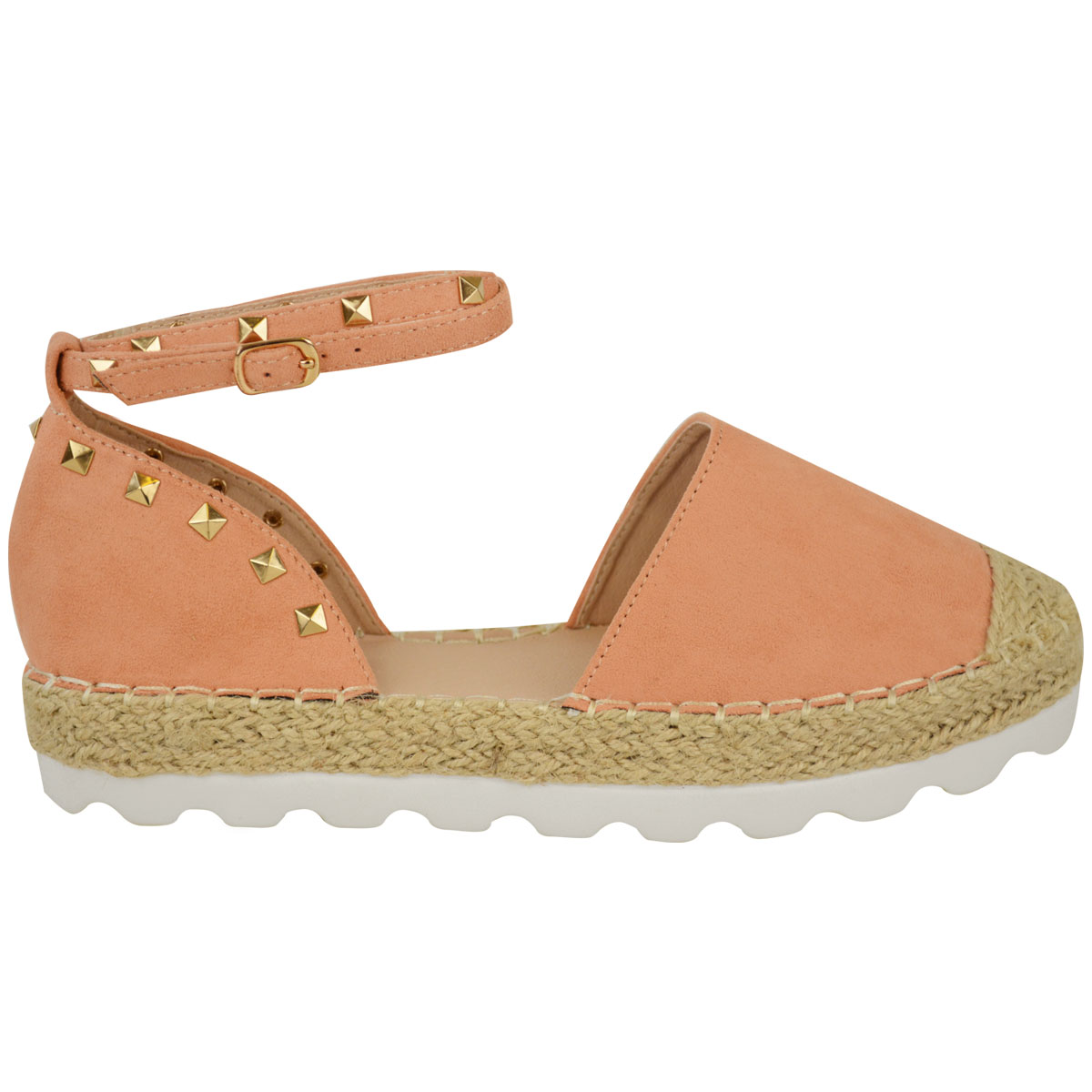 Womens-Ladies-Espadrilles-Flat-Pom-Pom-Sandals-Slip-On-Strappy-Comfy-Size-Shoes thumbnail 3