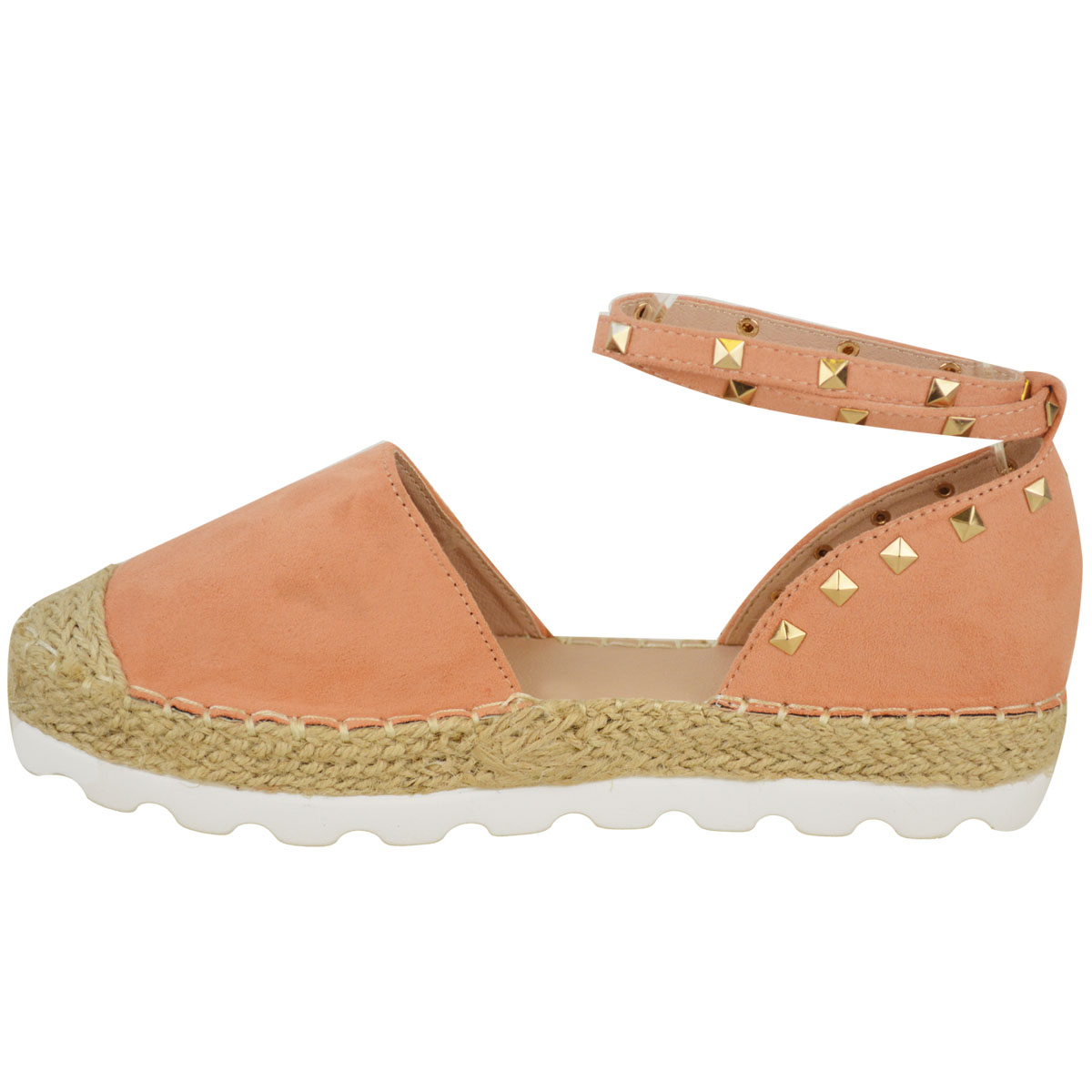 Womens-Ladies-Espadrilles-Flat-Pom-Pom-Sandals-Slip-On-Strappy-Comfy-Size-Shoes thumbnail 4