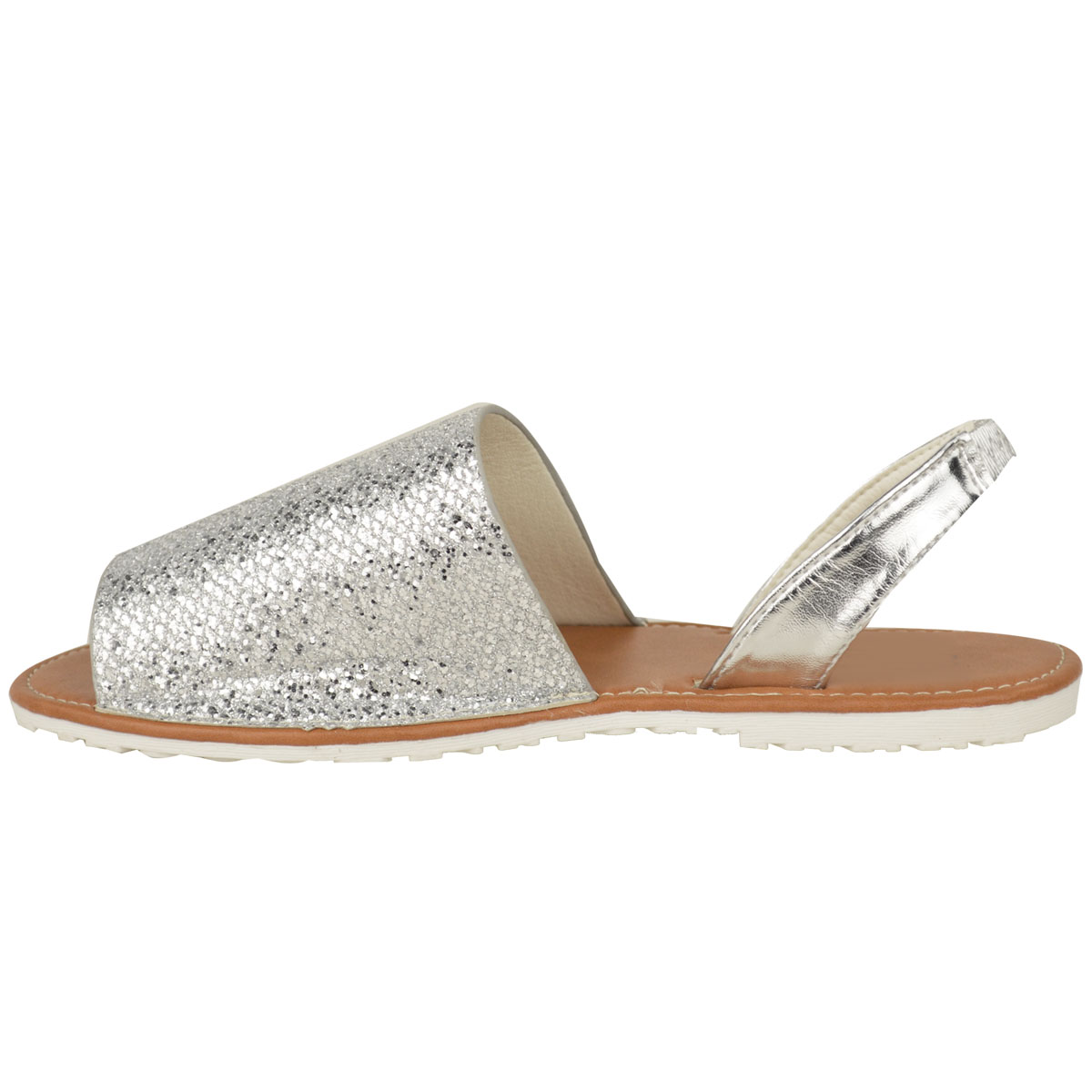 New Womens Ladies Summer Menorcan Sandals Glitter Flip