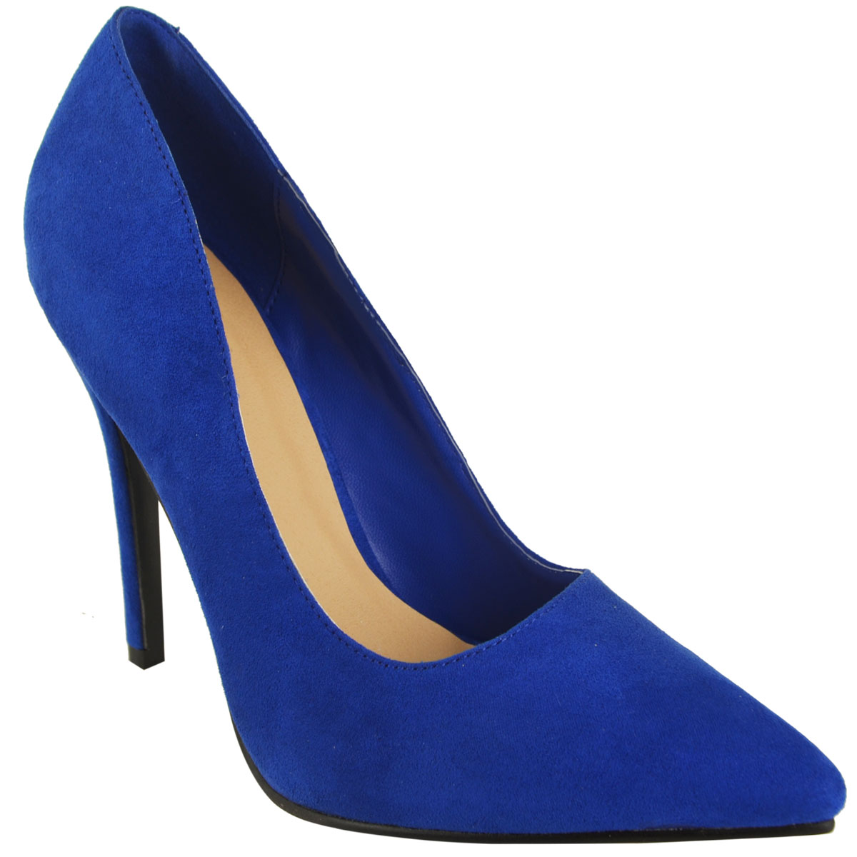 WOMENS LADIES HIGH STILETTO HEEL OFFICE WORK PROM PARTY POINTED COURT SHOES SIZE