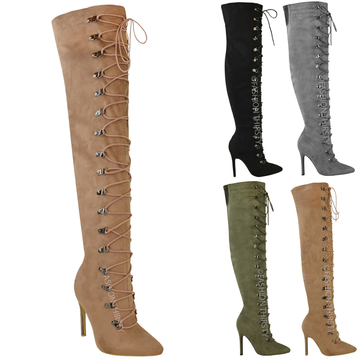 aa900c1e1d4 Laced Knee High Heel Boots Best Picture Of Boot Imageco