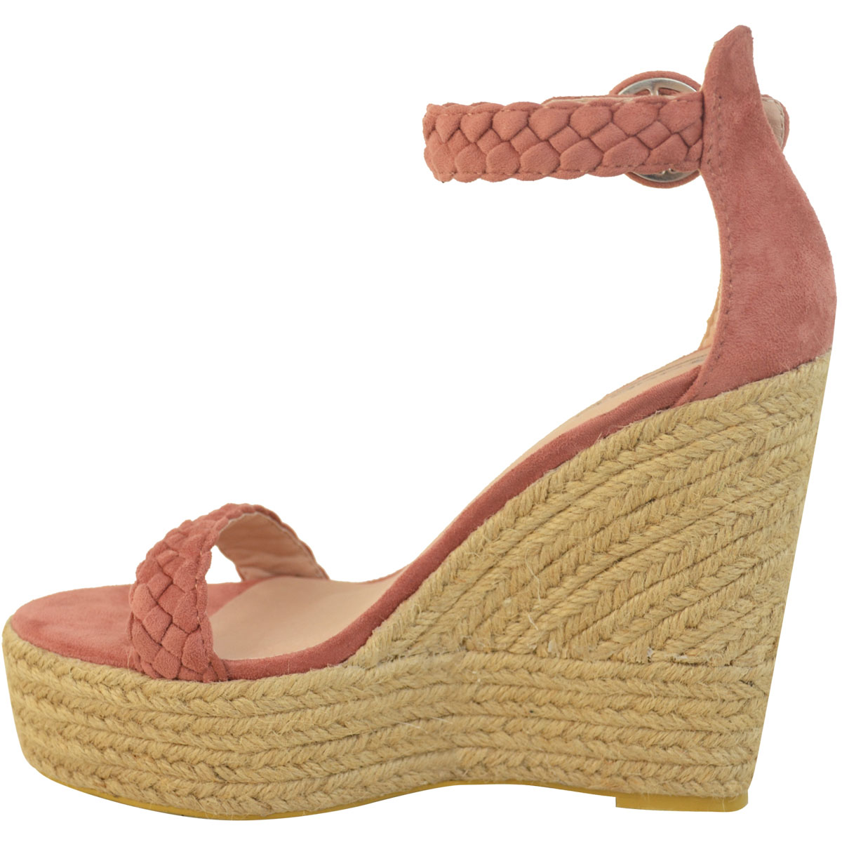 New Womens Stud Espadrille Wedge Summer Sandal Ladies Rose ...