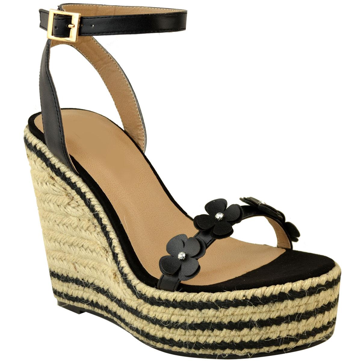 9f7f7400a9c Womens Ladies Summer Wedge Low High Heel Sandals Platform ...